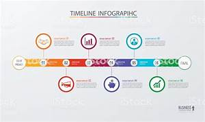 Infographic Timeline Template Business Conceptvector Can