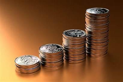 Orange Stacks Increasing Money Background Coin