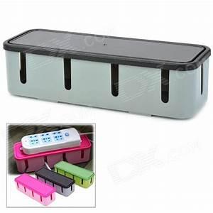 Rangement Cable Bureau : mode prise de courant bo te de rangement de c ble gris ~ Premium-room.com Idées de Décoration