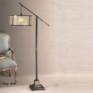uttermost sitka lantern metal floor lamp in aged black With sitka silver floor lamp