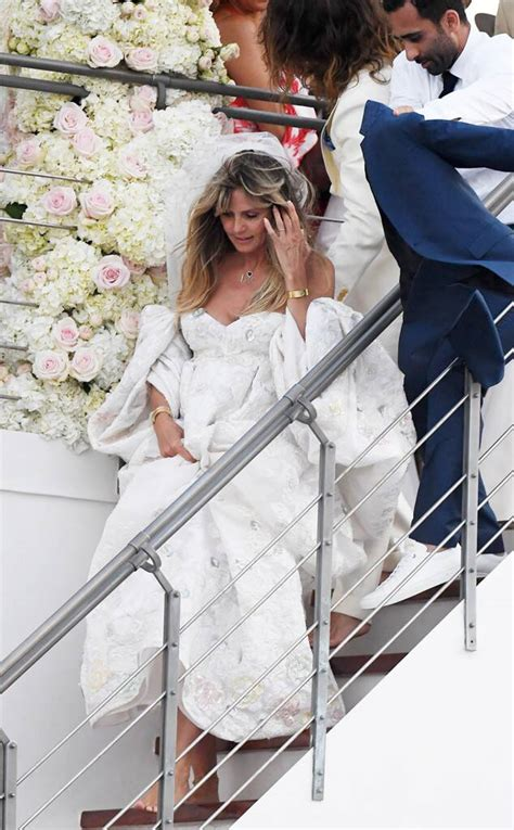 heidi klum   beautiful bride   tom kaulitzs