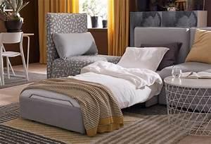 Canapé Modulable Ikea : canap convertible pliez d pliez c t maison ~ Teatrodelosmanantiales.com Idées de Décoration