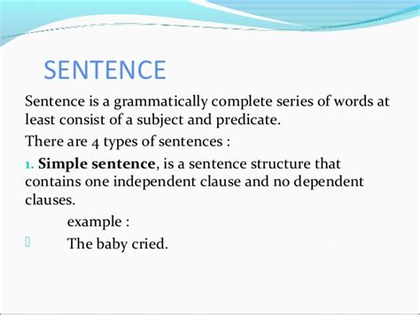 Phrase, Clause, And Sentence In Syntax