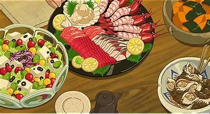 Anime Salad Mxc Sushi Animated Sashimi Seafood