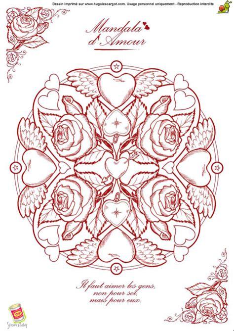 symbole cuisine coloriage valentin mandala hugolescargot com