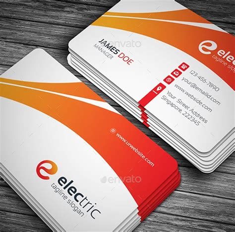 Electric Card 20 useful electrician business cards psds