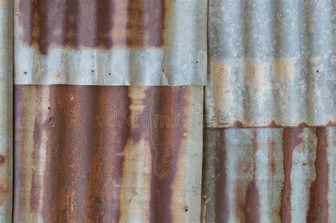 zinc rust aluminum pattern