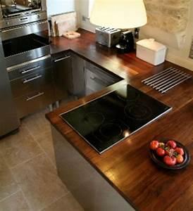 Cuisine Plan De Travail Bois : cuisine moderne plan travail bois avec des ~ Dailycaller-alerts.com Idées de Décoration