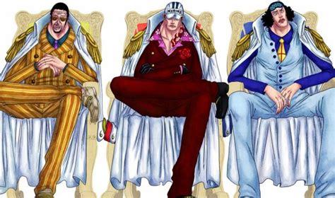 les secretaires blue one les 3 amiraux 大将 one ワンピース