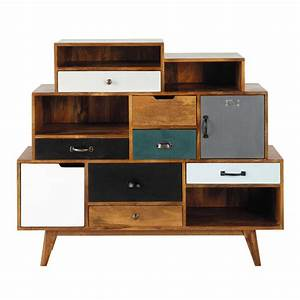 cabinet de rangement vintage en manguier massif l 125 cm With maison du monde cabinet