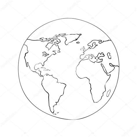 sketch globe world map stock vector  mastr
