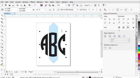 true type circle monogram font  coreldraw youtube