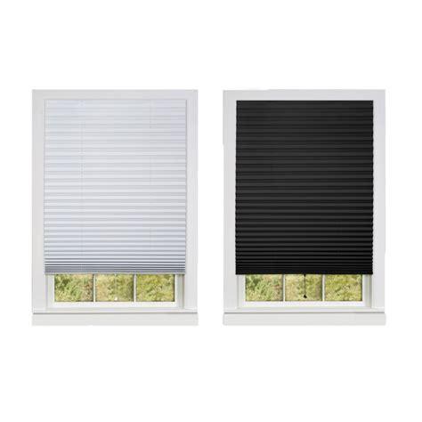 black l shades cordless pleated window shades room darkening vinyl blinds
