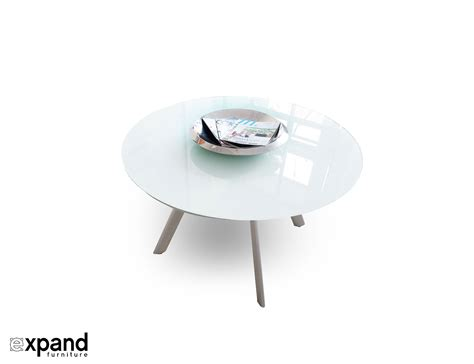 round glass table l the butterfly expandable round glass dining table expand