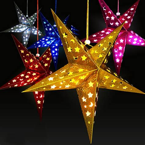 hanging star christmas lights 2015 christmas decoration christmas tree star pentagram
