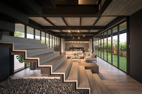 Unique Architecture With Oblique Lines And Courtyards by Unique Architecture With Oblique Lines And Courtyards
