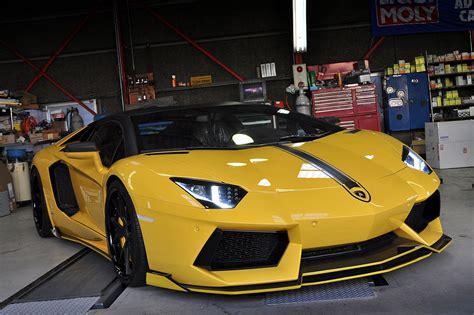 Bright Yellow Lamborghini Aventador By Bond Cars Osaka