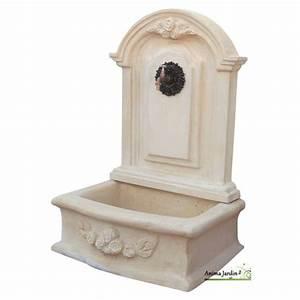 Fontaine D Exterieur En Pierre : fontaine murale romantique gm en pierre reconstitu e 119 ~ Premium-room.com Idées de Décoration