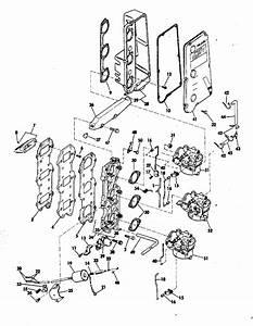 Evinrude Intake Manifold Parts For 1975 70hp 70573b