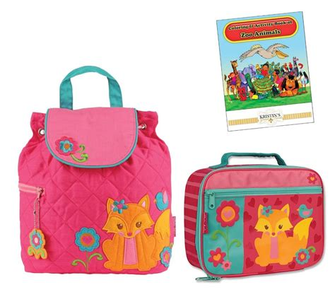 stephen joseph quilted backpack lunch box set toddler 660 | 821489660 o