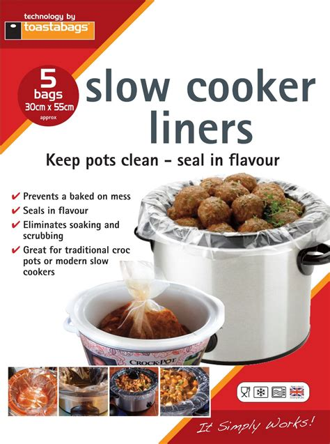 pot crock slow cooker bags liner 55cm flavour keep pack liners