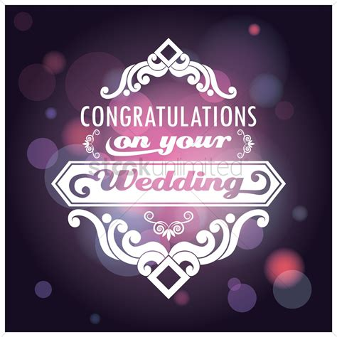 congratulations   wedding card vector image