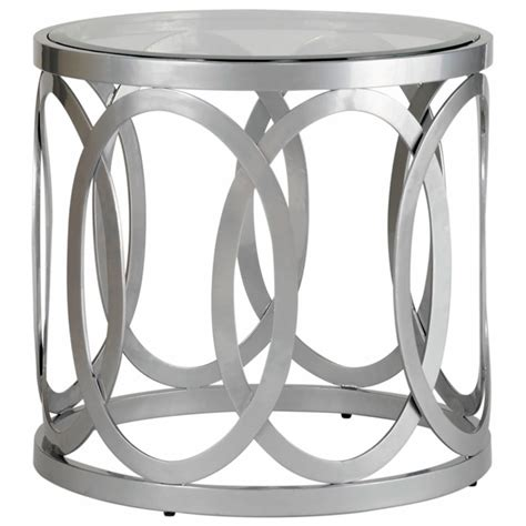 frosted glass end table alchemy round end table frosted glass top dcg stores