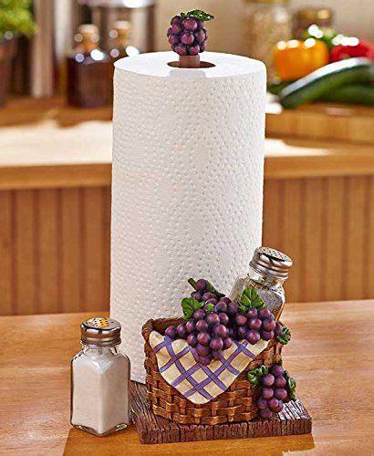 grape  apples paper towel holder salt  pepper