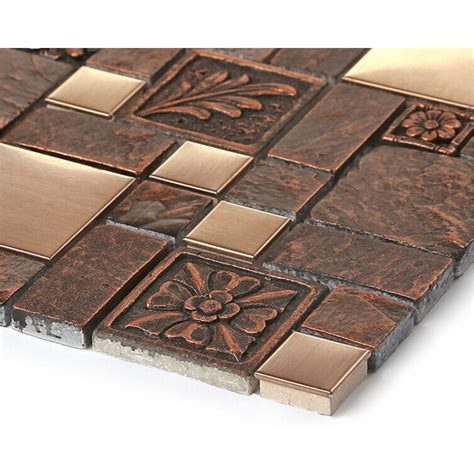 tile sheets for kitchen backsplash brushed stainless steel tile sheets kitchen backsplash
