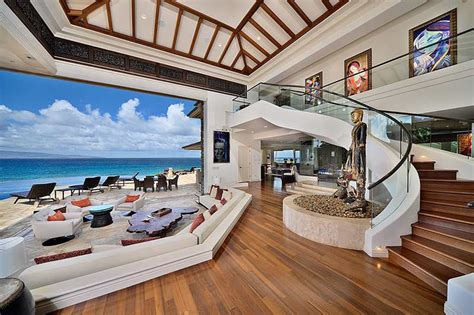 luxury beachfront estate  maui idesignarch interior