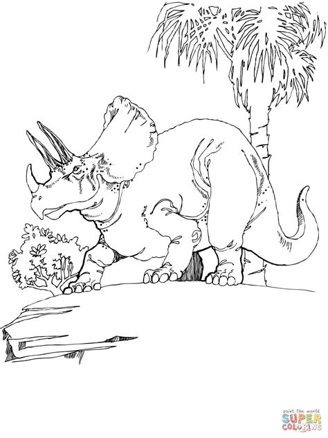 Triceratops Kleurplaat by Triceratops Coloring Page Free Printable Coloring Pages