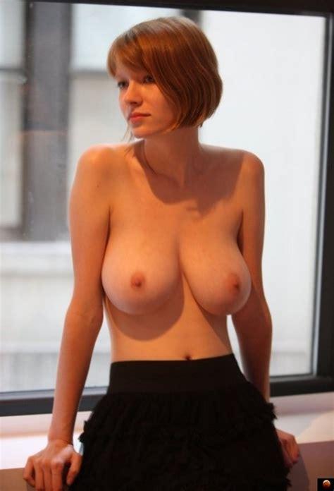 Topless Redhead Looking Fantastic Busty Petite Luscious
