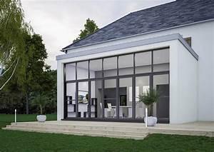Modele De Veranda : modele de veranda vranda grise vantaux salle manger ~ Premium-room.com Idées de Décoration