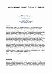 Identifying Gaps In Academic Writing Of Esl Students