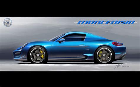 2018 Studiotorino Porsche Cayman Moncenisio Sketches 3