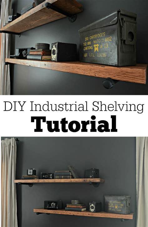 Diy Home Decor Ideas Diy Industrial Shelving Tutorial