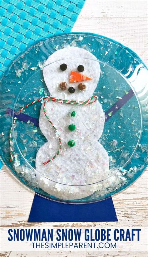 cutest snowman snow globe craft your will make 497 | snowman snow globe craft