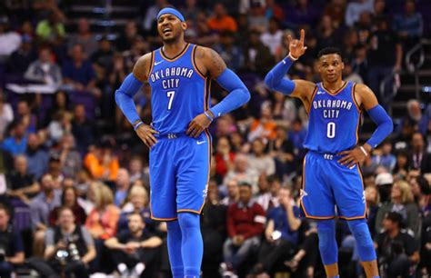 Carmelo Anthony Says Russell Westbrook Steals Rebounds