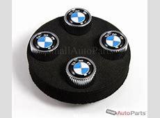 4 Genuine BMW Roundel Logo Chrome ABS TireWheel Stem