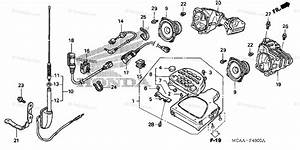 Honda Motorcycle 2005 Oem Parts Diagram For Audio Unit