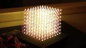How To Rgb 8x8x8 Led Cube - Demo