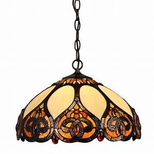 Traditional trinity watt pendant light ceiling tiffany
