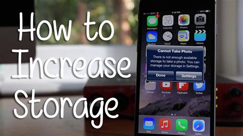 make room on iphone how to increase storage on any iphone hd