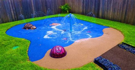 Water Park In Backyard by Backyard Water Park We Installed This Spray Park