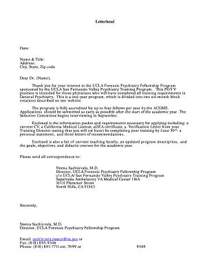 professional business letter template forms fillable