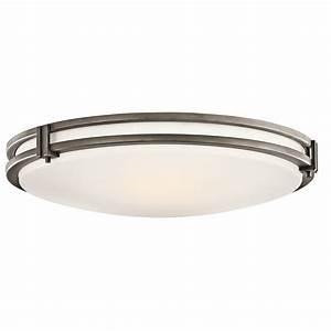 Kichler 10827oz flush mount ceiling fixture for Ceiling flush mount light fixtures