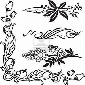 Jugendstil Florale Ornamente : jugendstil ornament ecken und teiler jugendstil outline ~ Orissabook.com Haus und Dekorationen