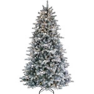 puleo 7 ft jingle bell artificial flocked christmas tree trees tree skirts shop the exchange