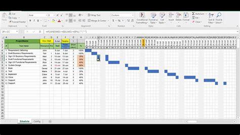 gantt chart excel template  built  smarts youtube