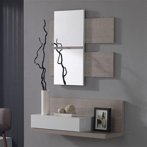 joli bureau meuble d 39 entre avec miroir blanc et bois avec tiroir